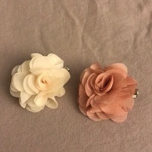 Pink and White flower head pins
